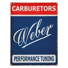 Sign, Weber Carburetors, vintage, metal