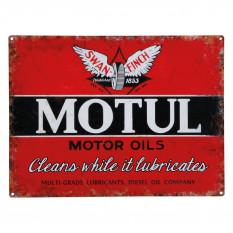 Sign, Motul, vintage, metal