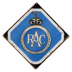 Sign, RAC, vintage, metal
