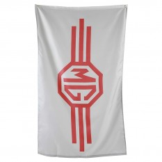 Flag, MG logo, grey/red