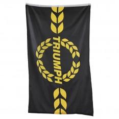 Flag, Triumph logo, black/yellow