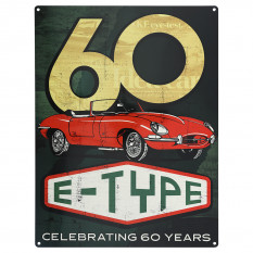 Metal Rectangle Sign, E-Type 60th anniversary