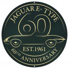 Metal Round Sign, E-Type 60th anniversary