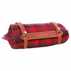 Blanket, red tartan, 52 x 70 inches, Pendleton Mills