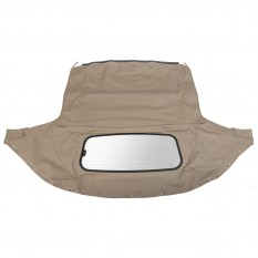 Hood, Streamline Vinyl, defroster glass window, tan