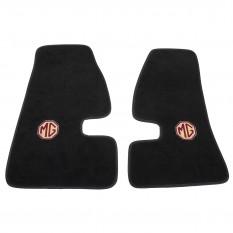 Footwell Mats, MGA embroidered ultra plush, black