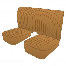 Seat Cover Set, leather, tan, pair