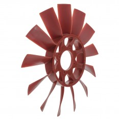 Fan, cooling, 13 blade, plastic, red