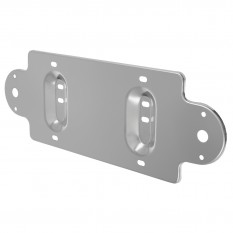 Support, number plate, stainless steel