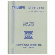 Original Parts Catalogue, TR2-3A