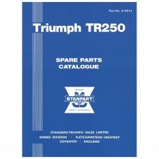 Parts Catalogue, TR250