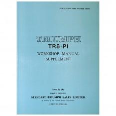 Supplement, workshop manual, TR5
