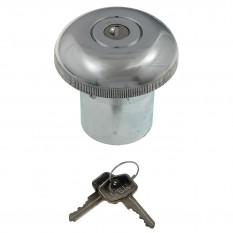 Fuel Cap, locking, original, lift-off, round, chrome
