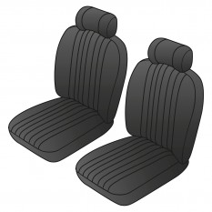 Custom Deluxe Seat Cover Kits, Front - MGB & GT