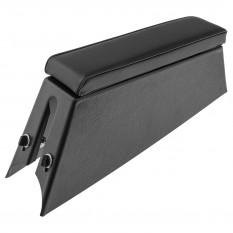 Armrest Console, with power jacks, vinyl, black
