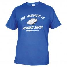 T-Shirt, MX-5, Mens, Blue, XL