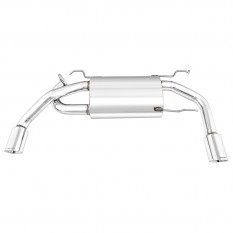 Exhaust, silencer, Cobalt, dual exit, stainless steel