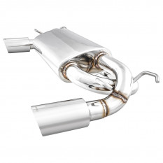 Silencer, exhaust, Cobalt, dual exit, stainless steel