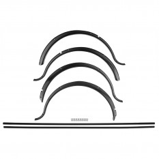 Wheel Arch Set, black, plastic