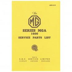 Service Parts List MGA 1600