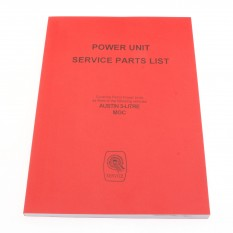Parts Catalogue, power unit, Factory