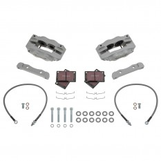 Jaguar Mk2 Brake Kit, front, 4 pot, silver, standard discs, Fosseway Performance