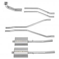 Exhaust System, sport, stainless steel