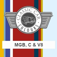 Classic Car Colours Paints - MGB, C & V8