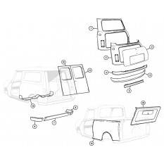 Body Panels: Rear, Saloon, Van & Pickup Models - Mini