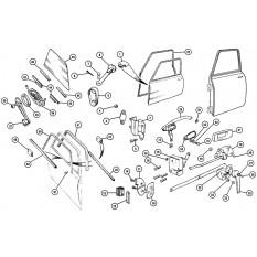 Body Fittings: Door Handles, Locks & Seals - Mini MkIII-On