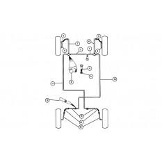 Brake Pipes: Diagonal Split System - Mini (RHD)