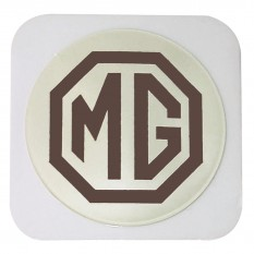 Tax Disc Holder, MG Logo, brown and cream