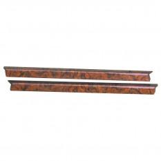 Capping Set, door top, walnut burr, veneer, 2 piece
