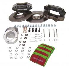 Frontline Developments 4 Pot Caliper Front Brake Kits - Sprite & Midget