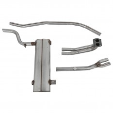 Exhaust System, crossbox, stainless steel