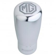 Knob, gear lever, MG Logo, silver