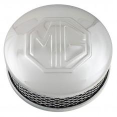 "Air Filter, SU carburettors, MG logo, 1 1/2"", chrome"