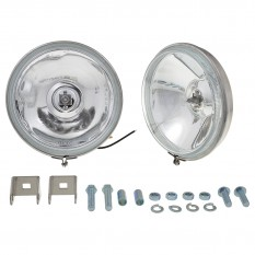 "Lamp Set, spot, 5.5"", stainless steel, base mounting, pair"