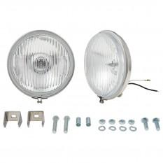 """Lamp Set, fog, 5.5"""", stainless steel, base mounting, pair"""