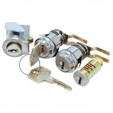 Lock Assembly Set, 4 piece, chrome