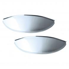 """Headlamp Peaks, 7"""", chrome, pair"""