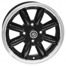"Wheel, Minator, 8 spoke, aluminium, black/polished rim, bolt-on, 15"" x 5.5"""