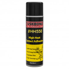Adhesive, heat resistant, aerosol