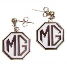 Earrings, MG Logo