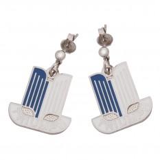 Earrings, Triumph Logo