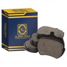 Brake Pad Set, ceramic, Classic Gold