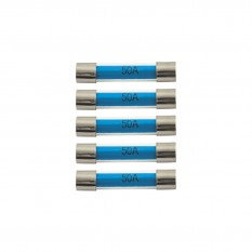 Fuses, 50A, glass, pack of 5