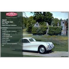 OTP Jaguar XK120, XK140, XK150, C-Type, D-Type & XK-SS (1948-1961) (USB Portable)