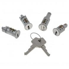 Lock Barrel & Key, set, 4 locks