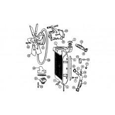 Radiator, Water Pump & Fan - MGA (1955-62)